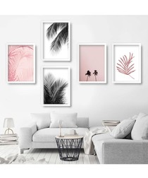 5pc Palm III wall art set