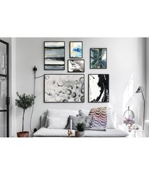 6pc Scrub wall art set