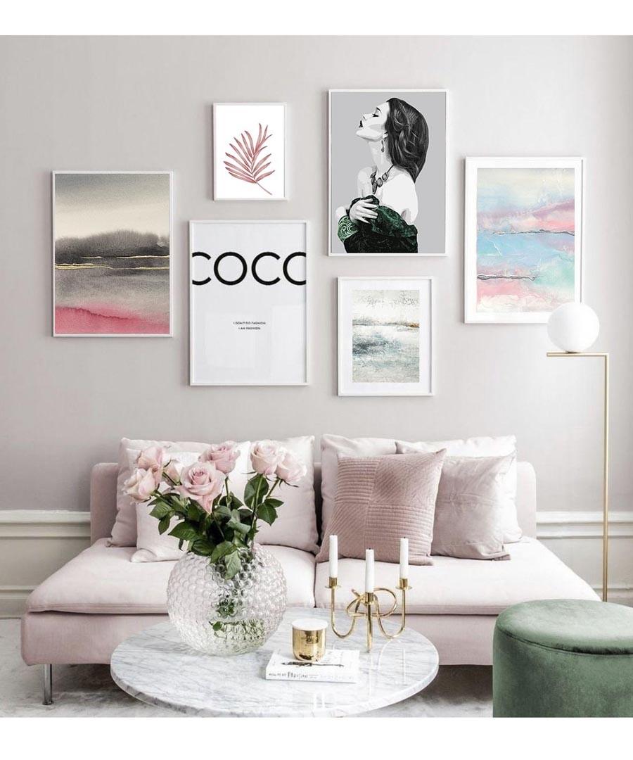 6pc Coco III wall art set Sale - modacanvas