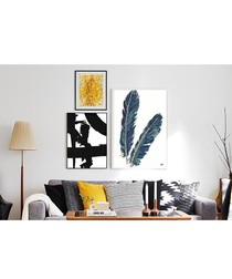 3pc Feathers II wall art set