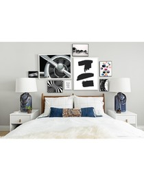 8pc Turbine wall art set