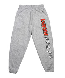 Girls' Mickey grey heather joggers