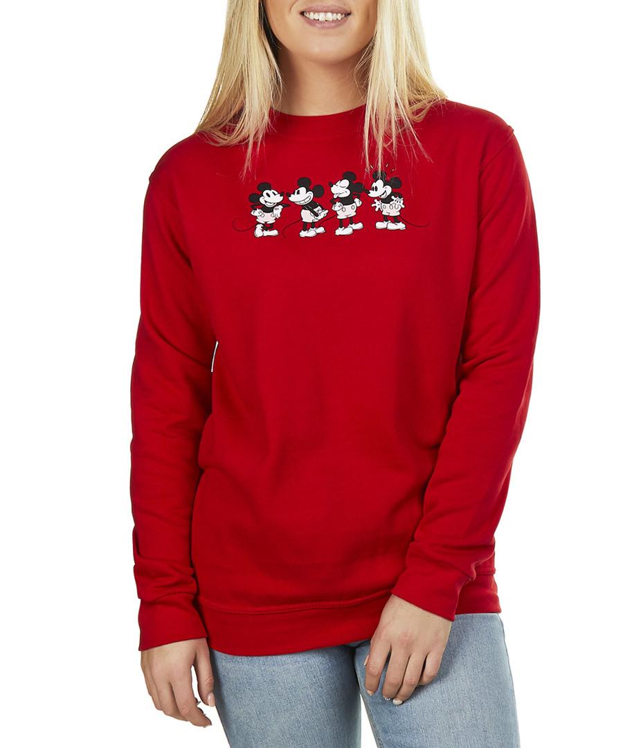 Women's Quadruple Mickey red sweatshirt Sale - disney