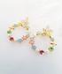 14k gold-plated floral hoop earrings Sale - fleur envy Sale