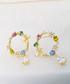 14k gold-plated hoop drop earrings Sale - fleur envy Sale