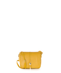 Monte Avella yellow leather crossbody