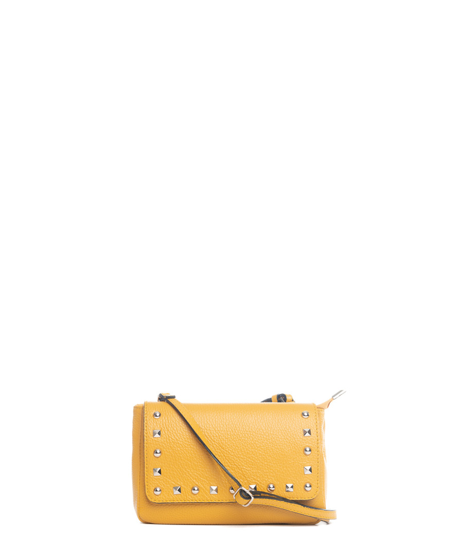 Monte Gorzano yellow leather crossbody Sale - pia sassi