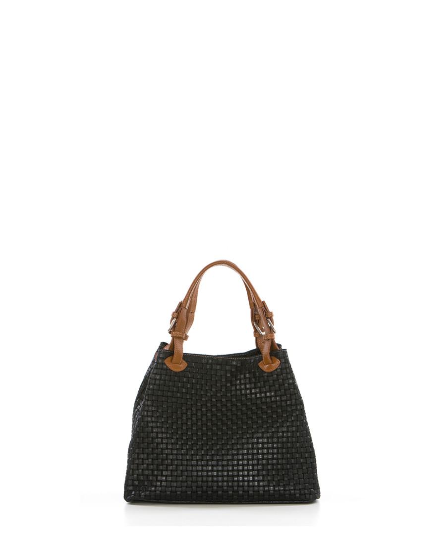 Fosdinovo black & brown leather shopper Sale - lucca baldi