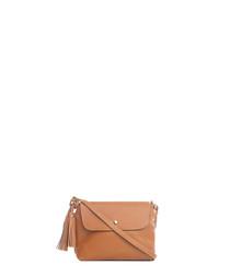 Bagni tan leather tassel crossbody