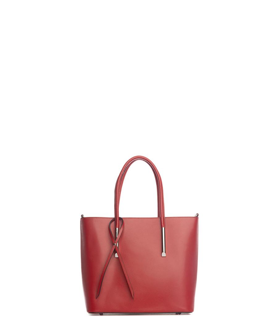Mallero red leather shopper Sale - lia biassoni