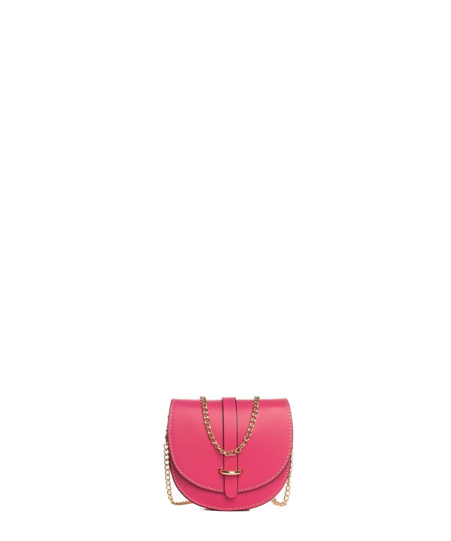 Fiora fuschia leather chain crossbody Sale - lia biassoni