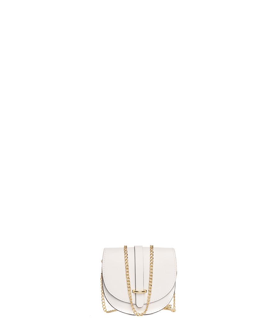 Fiora white leather chain crossbody Sale - lia biassoni