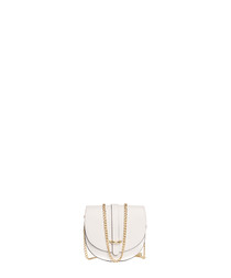 Fiora white leather chain crossbody