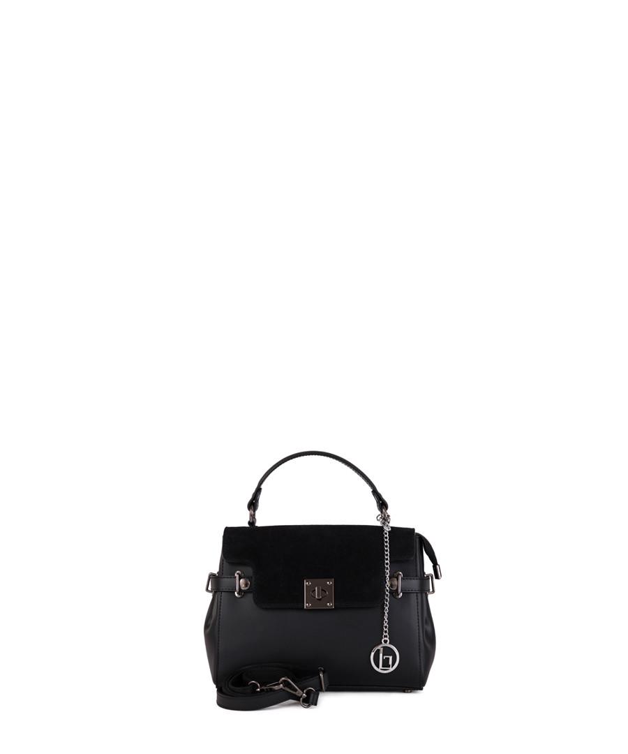 Rosa black leather grab bag Sale - lia biassoni
