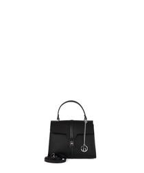 Liri black leather grab bag
