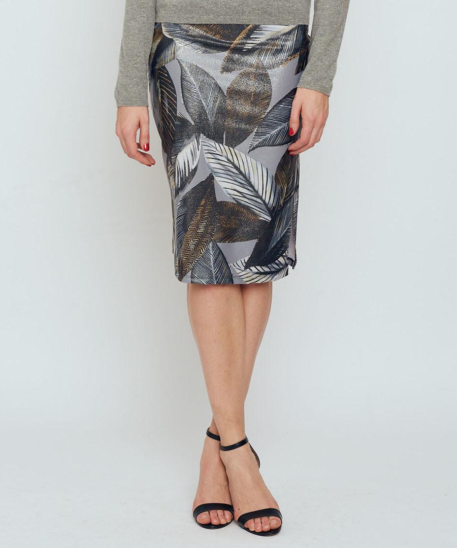 Thule grey leaf print pencil skirt Sale - bo & nic