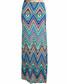 Multi-colour chevron print maxi skirt Sale - urban trend Sale