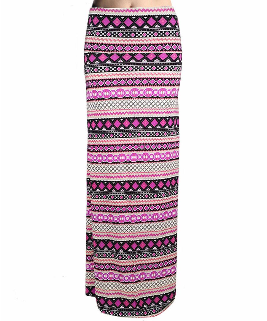 Pink stripe print maxi skirt Sale - Urban Trend
