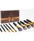10pc Dawn 'til Dusk black brush set Sale - rex brown Sale
