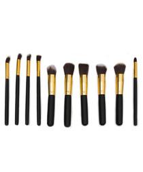 10pc Dawn 'til Dusk black brush set