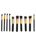 10pc Dawn 'til Dusk black brush set Sale - rex brown Sale