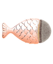 Rose gold-tone mermaid tail brush
