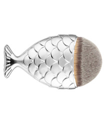 Silver-tone mermaid tail brush