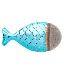 Aqua mermaid tail brush