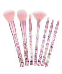 7pc Pink glitter brush set