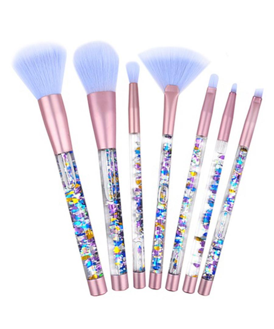 7pc Lilac & pink glitter brush set Sale - rex brown
