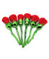 6pc Red & green rose brush set Sale - rex brown Sale