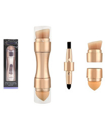 4 in 1 gold-tone make-up brush