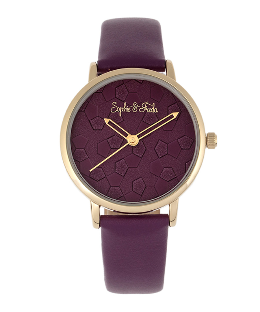 Breckenridge purple leather watch Sale - sophie & freda