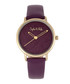 Breckenridge purple leather watch Sale - sophie & freda Sale
