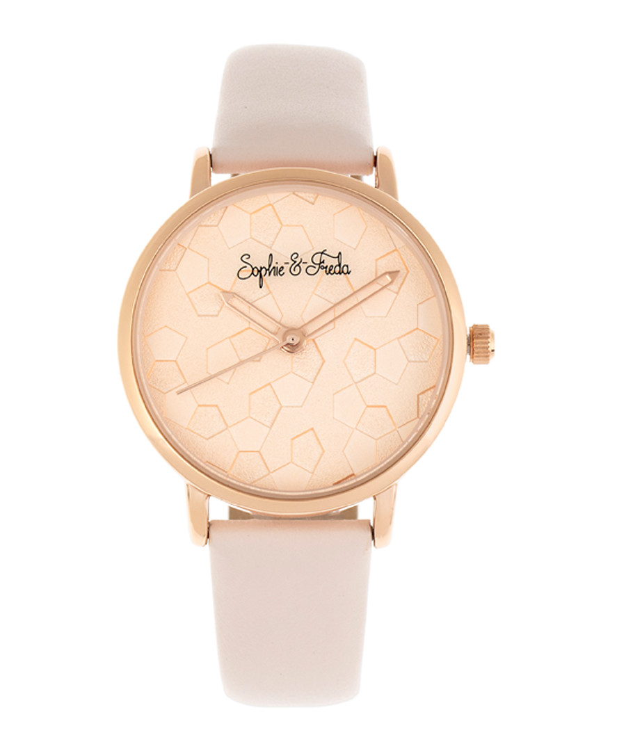 Breckenridge blush leather watch Sale - sophie & freda