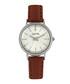 Berlin silver-tone & brown leather watch Sale - sophie & freda Sale