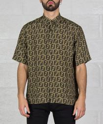 Brown logo short sleeve shirt