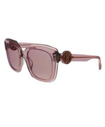 clear mauve squared sunglasses