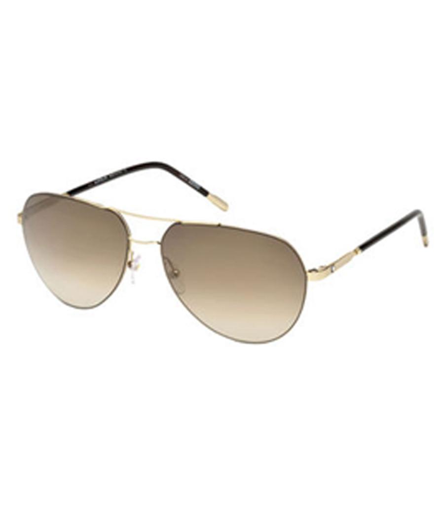 gold-tone pilot sunglasses Sale - montblanc