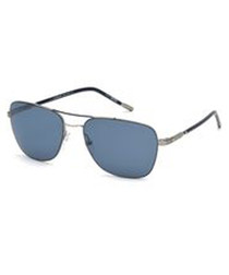 blue squared pilot sunglasses