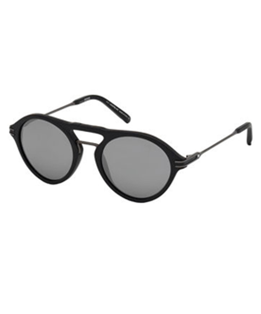 black top-bar rounded sunglasses Sale - Montblanc