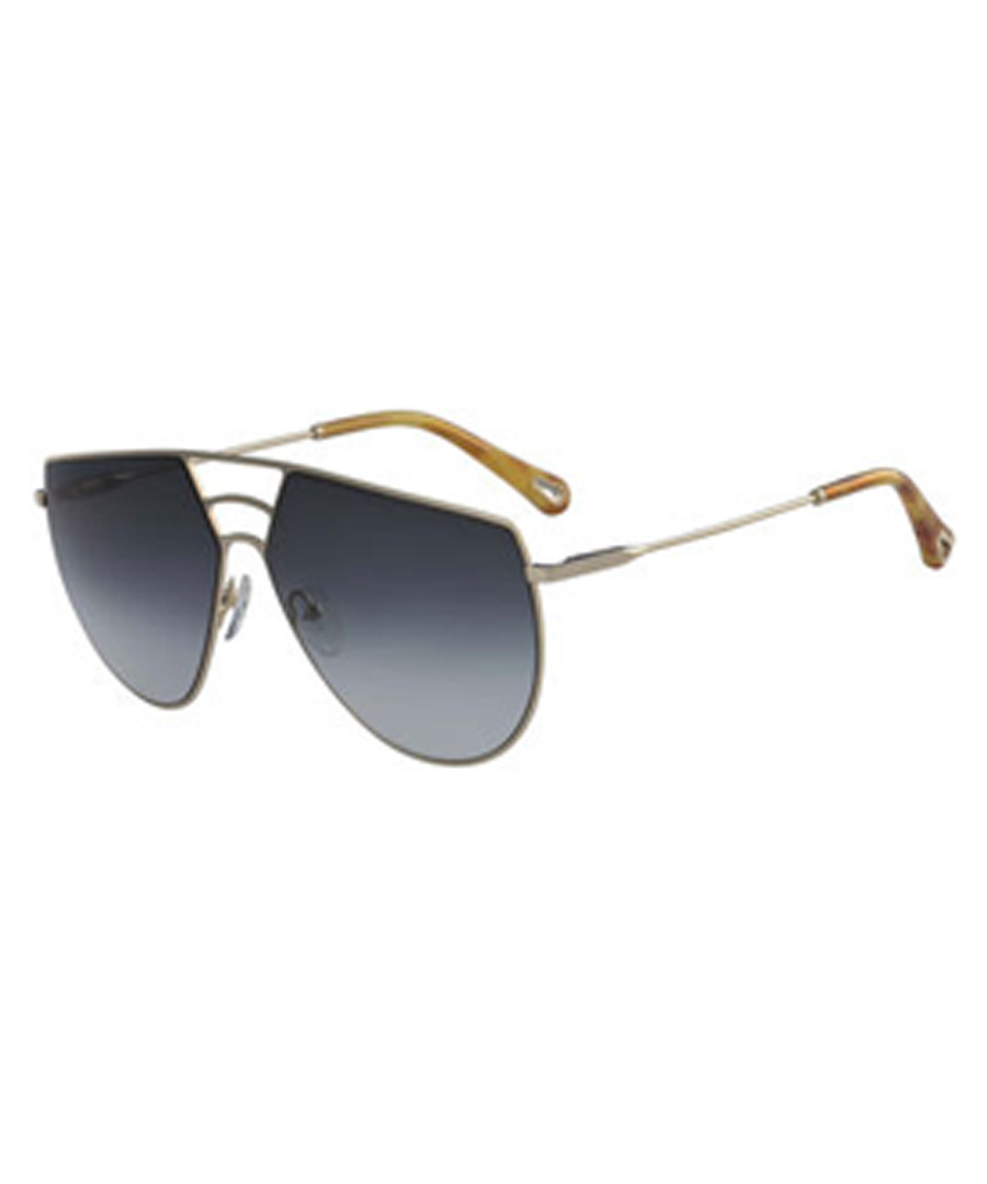 Green asymmetric aviator sunglasses Sale - chloe