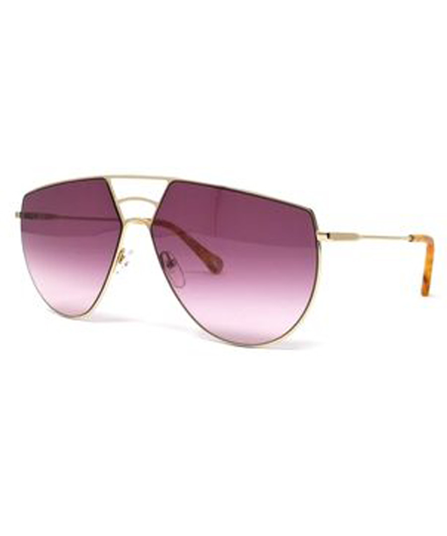 Pink asymmetric aviator sunglasses Sale - chloe