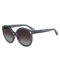 navy rounded cut-out sunglasses