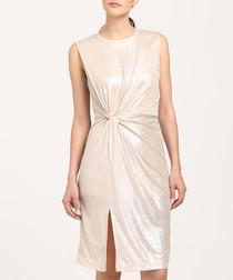 Champagne twist mini dress