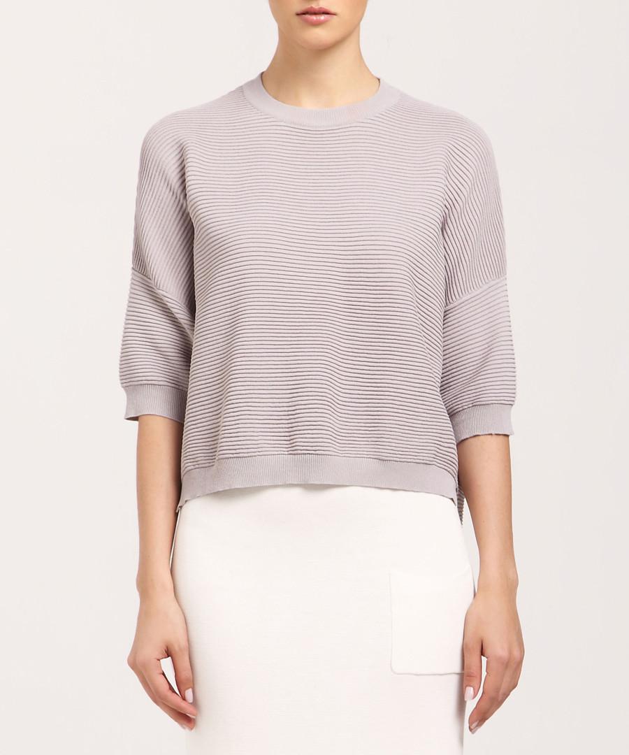 Light grey 3/4 sleeve jumper Sale - paisie