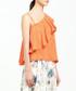 Orange ruffle shoulder blouse Sale - paisie Sale