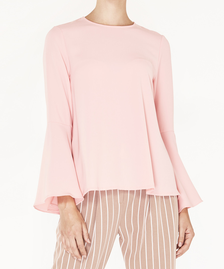 Pink bell sleeve blouse Sale - paisie