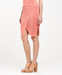 Coral textured cut-out skirt
