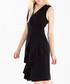Black sleeveless ruffle hem dress Sale - paisie Sale